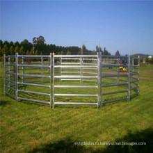 Горячая крупного рогатого скота забор и шарнир узел, поле, забор сетка