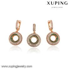 64208-xuping fashion jewelry 18k gold luxury aaa cz jewelry sets