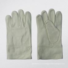 Козья кожа без подкладки TIG сварочные перчатки Защитные перчатки-7335