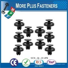 Fabriqué à Taïwan Grey Plastic Car Trim Clip Plastic Retainer Trim Fastener Push Type Fender Shield Clip