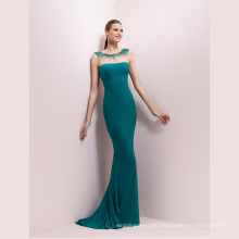 Emerald Beading Mermaid Prom Cocktail Evening Dress