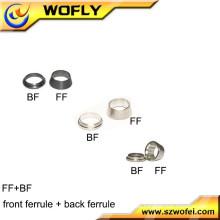 Hydraulik-Schlauchrohr zwei Steckverbinder-Armaturen Metall-Ferrule