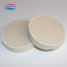 Tamanho Vrious melhor qualidade e preço infravermelho cerâmico placas de cordierite de favo de mel