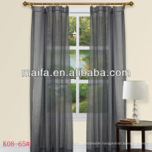 100% Polyester Rod Pocket Jacquard Plain Cafe Curtains And Valance