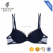High quality super comfortable bodycare girls new design 34 size 3/4 cup cotton lace underwear bra