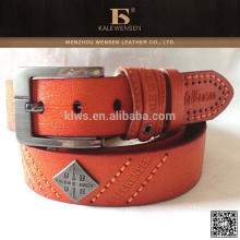 OEM cowhide Newest used aks genuine orange belts for women