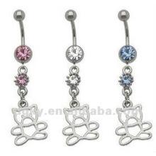 Body Jewelry Piercing Fancy silver payal navel jewelry