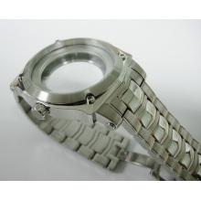 Caja de reloj fina de acero inoxidable 316L con banda para reloj de hombre