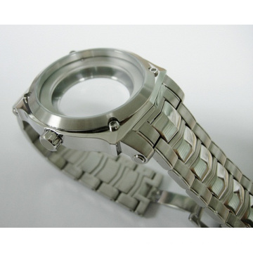 Boîtier en acier inoxydable 316L avec bracelet en acier pour hommes