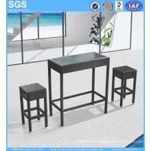 Bar Furniture PE Rattan Stools and Table