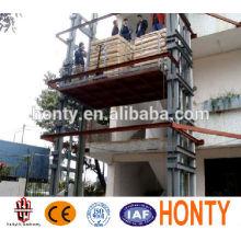 Heißer Verkauf an der Wand befestigter hydraulischer Führungsschienenaufzug-Lagerplattformaufzug mit CER