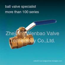 Válvula de bola de cobre amarillo 2PC con los precios