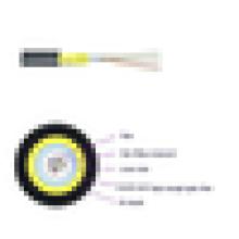 Cable de fibra óptica JET figura 8 cable de fibra óptica de interior al aire libre del cable de la gota de la fibra