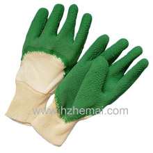 Cotton Liner Latex Half Dipped Safety Working Gloves
