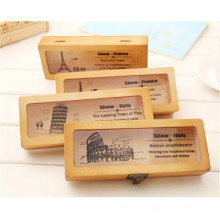 estuches de lápices de madera logo personalizado para adultos