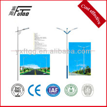 led light with steel road light post