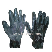 Camouflage Color Gloves Nitrile Coated Military Gloves Safety Work Glove