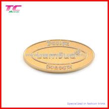 Etiqueta engomada en relieve de encargo de la marca del metal del logotipo