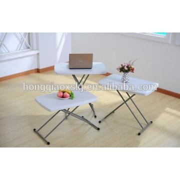 HDPE Plastic Folding Verstellbare Tabelle für Kinderstudie, Laptop Tisch, Camping, Allgemeine Verwendung Outdoor Catering Kleine Billig Tisch