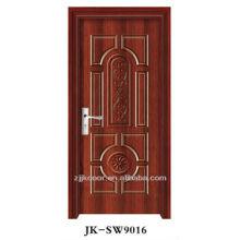 Melhor preço porta de aço em madeira