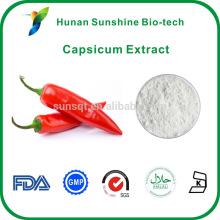 2% de capsaïcine, 95% de capsaïcinoïdes, 55% de cristaux de capsaïcine extrait de Capsicum capsaïcine