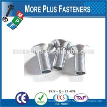 Made In Taiwan flat counters head tubular rivets