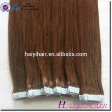 Extensions de cheveux de ruban à double face bleu