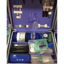 1L Cilindro Médico Portátil de Oxigênio e Acessórios de Emergência