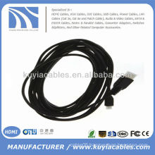 high speed Micro HDMI To HDMI Cable Male to Male for Ethernet HDTV 1080P 5M