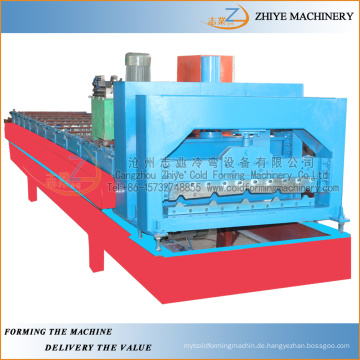 Stahl verglaste Wand und Dachplatte Kaltumformmaschine / Hochwertige heiße verkaufende glasierte Stahlfliesen, die Maschine herstellen