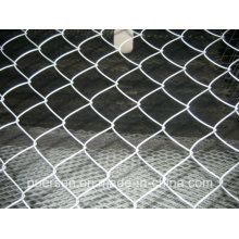 Caliente sumergido y eléctrico galvanizado cerca de la cadena de enlace, malla de alambre de enlace de la cadena