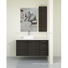 Australia Style Modern Wood Veneer Wall Mounted Bathroom Vanity Cabinet Set with Quartz Countertop for Sale