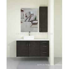 Estilo australiano, moderno, madeira, folheado, montado na parede, banheiro, vaidade, armário, conjunto, quartzo, bancada, venda