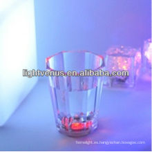 Romántico iluminado LED activo líquido, vidrio de tiro