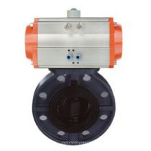 Пневматический пластиковый клапан-бабочка для системы водоподготовки
