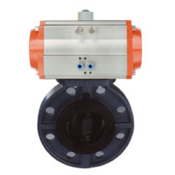 Pneumatic Plastic Butterfly Valve for Water Treatment System