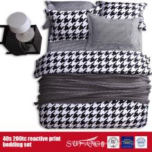 Cubierta negra blanca impresa 133 * 72 del duvet para el hotel / el uso en el hogar