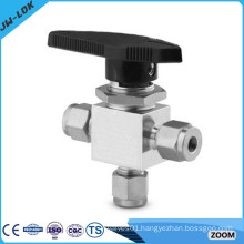One Piece Instrument Three-way Ball Valve ( Ball Valve Manufacturer,Stainless Steel Ball Valve)