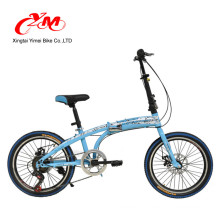 folding bicycle 20 inch/yellow color single speed folding bike/folding bicycle with rear band brake