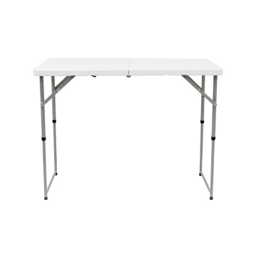 Mesa plegable de doble pliegue ajustable con flash