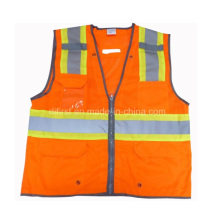 High Visibility Reflective Vest with a PVC Pocket
