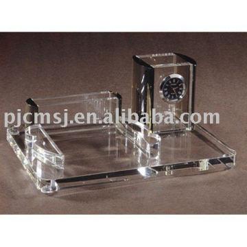 cristal papeterie de bureau