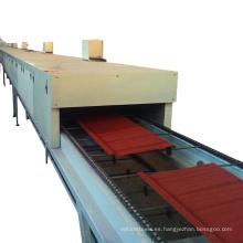 hebei xinnuo teja de metal revestida de piedra que hace la máquina