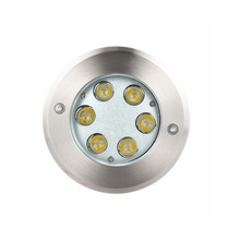 Luz embutida LED à prova d'água 6W