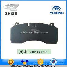 Peça sobresselente quente 3501-01538 da peça sobresselente do ônibus Almofada de freio dianteiro do disco para Yutong ZK6930H
