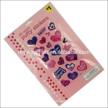 Пользовательский клейкий пухлый наклейка с наименьшей ценой детский мультфильм имя наклейка