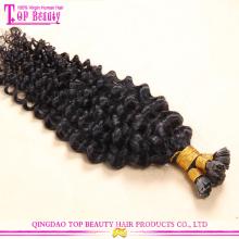 Prix usine vente extensions de cheveux 10-30 pouces couleur naturel ongles pointe chaude