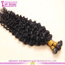 Preço de fábrica venda de extensões de cabelo 10-30 polegadas cor natural unha dica quente