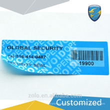 manufacturer supply blank security label with fast delivery