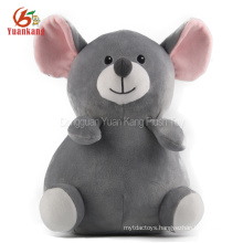 Christmas Stuffed Animal Gray Guinea Pig Toy Cute Fat Grey Plush Mouse Toys With Big Eyes